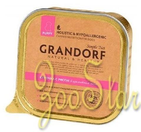 Grandorf влажный корм для щенков всех пород, курица с рисом 150 гр, 200100361