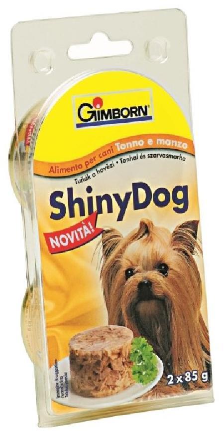 Gimborn Shiny Dog влажный корм для взрослых собак, тунец с говядиной 85 гр