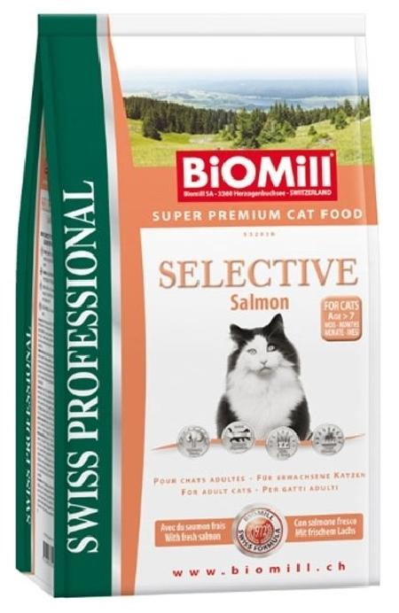 Biomill ВИАДля взрослых кошек с норвежским лососем (Selective Salmon)(552038), 1,5 кг, 22783