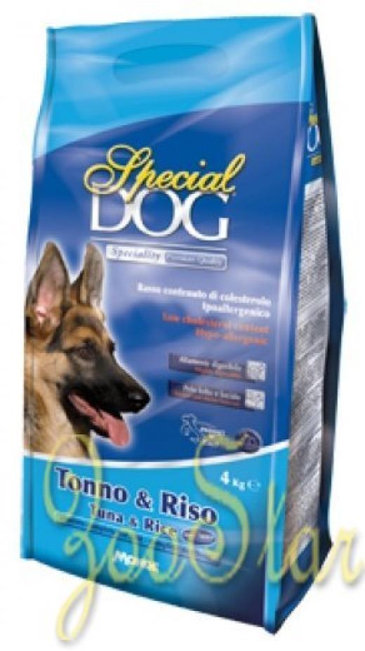 Special Dog корм для собак с особыми потребностями (с чувствительной кожей и пищеварением) тунецрис 4 кг