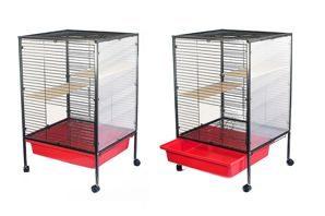 Redplastic Клетка для хорьков 2 этажа, выдвижной поддон, с оргстеклом 65*65*93 см , RP4434