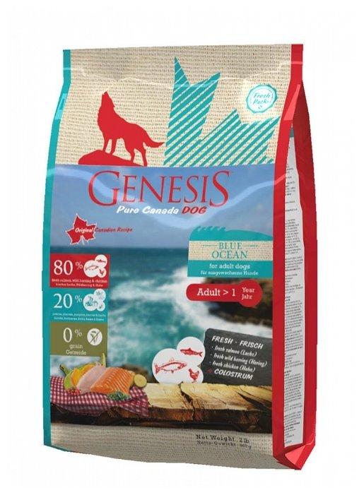 Genesis корм для взрослых собак всех пород, сельдь и курица 907 гр