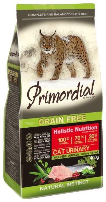 PRIMORDIAL URINARY Корм сух 6кг для кошек при МКБ беззерновой индейка/сельдь MGSP1406, 70606