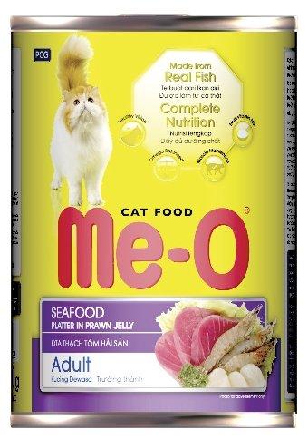 Ме-О влажный корм для взрослых кошек всех пород, морепродукты 400 гр