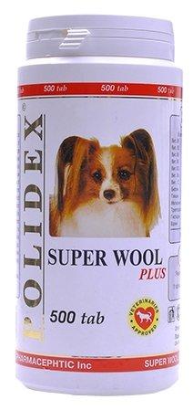 Polidex витамины для собак, здоровье кожи и шерсти 500 таб