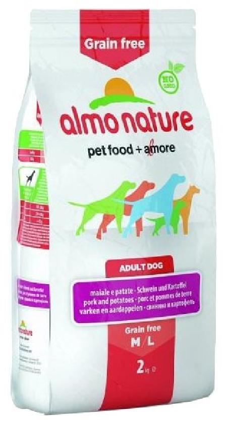 Almo Nature ВИА Беззерновой корм с  Лососем и Картофелем для Собак карликовых и мелких пород (HOLISTIC GRAIN FREE DOGS XS-S SALMON AND POTATOES) 776, 2 кг, 47631
