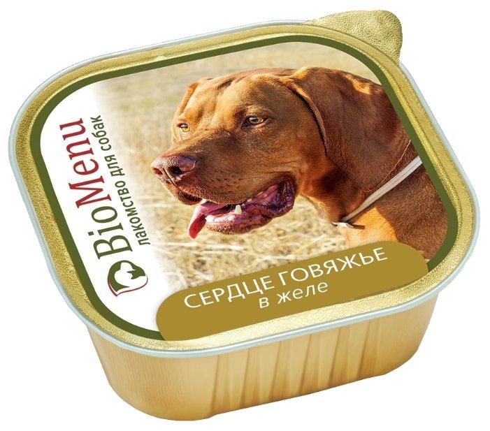 BioMenu влажный корм для собак всех пород и возрастов, сердце говяжье в желе 150 гр