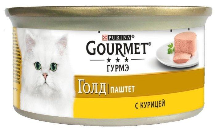 Gourmet Консервы Паштет Gourmet Gold с курицей для кошек - 12032582/12318119/12307070/12439991, 0,085 кг