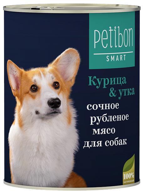Petibon Smart влажный корм для собак всех пород и возрастов, курица и утка 410 гр