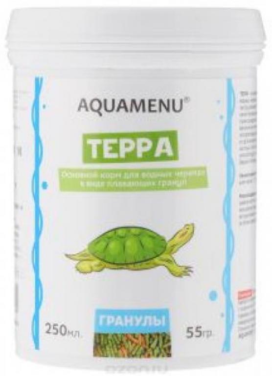 [15.516]  Корм дводных черепах ТЕРРА 250мл