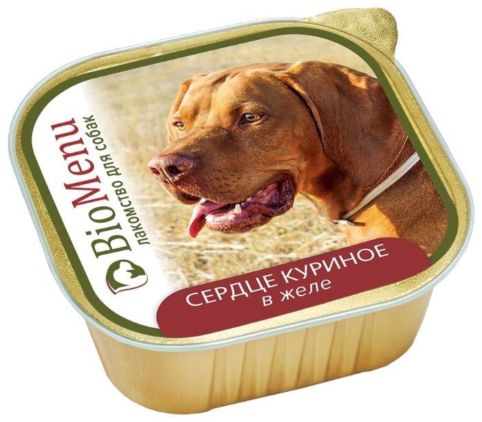 BioMenu влажный корм для собак всех пород и возрастов, сердце куриное в желе 150 гр