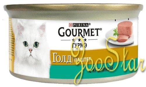 Gourmet Консервы Паштет Gourmet Gold с кроликом для кошек - 12182548/12318132/12439966, 0,085 кг