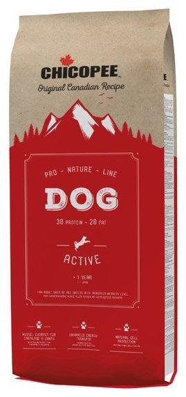 Chicopee корм для взрослых собак всех пород, с высокой активностью 20 кг