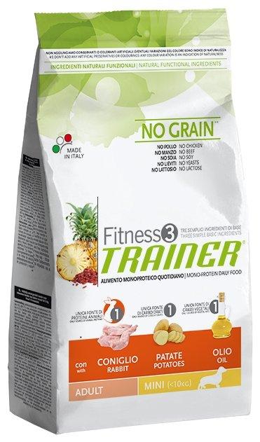 Trainer Fitness корм для взрослых собак малых пород, беззерновой, кролик и картофель 2 кг