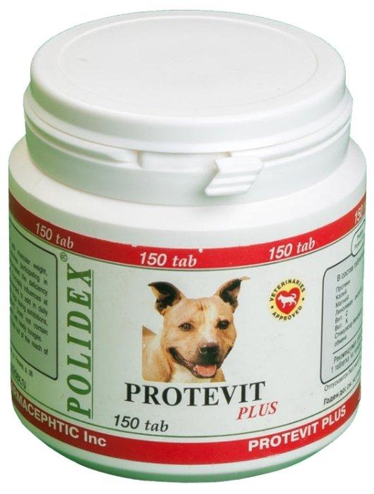 [94.1.940]  POLIDEX Protevit plus д/собак 300 таб, 1таб/10кг при повыш.физ.нагрузках (уп-8шт) 2093, 94.1.940