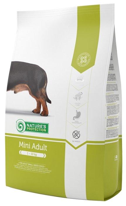 Nature's Protection корм для взрослых собак малых пород, курица, индейка и утка 18 кг