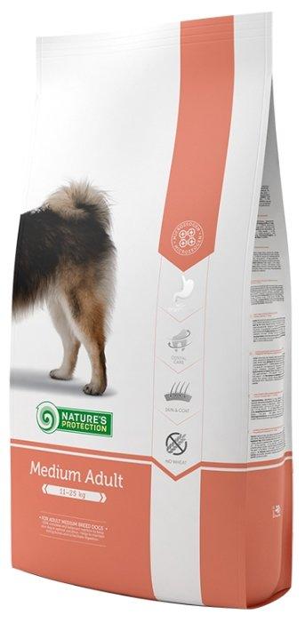 Nature's Protection корм для взрослых собак средних пород, курица, индейка и утка 18 кг