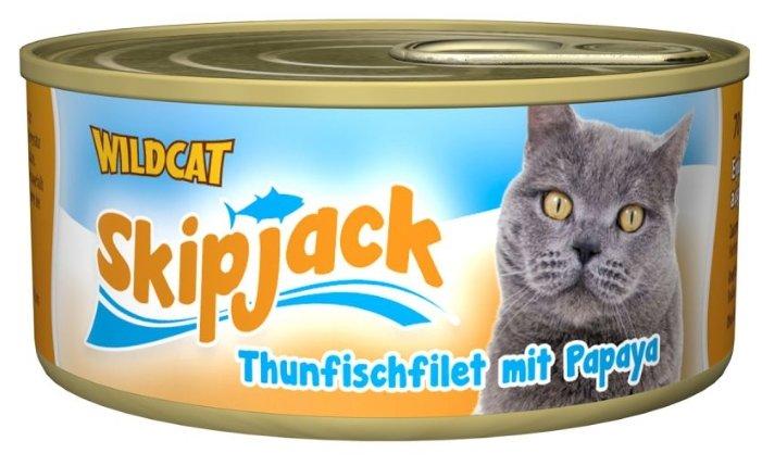 Wildcat Консервы для кошек Thunfischfilet mit Papaya (Филе тунца с папайей) 70г, WCSJTP1X70