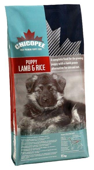 Chicopee корм для щенков всех пород, ягненок и рис 15 кг
