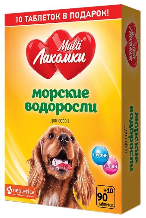 MultiЛакомки витаминное лакомство для взрослых собак всех пород, для иммунитета и пищеварения 100 таб