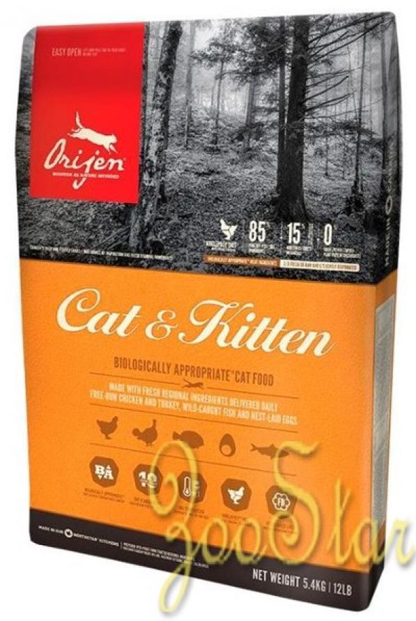 Orijen Для кошек с курицей, 5,4 кг, 25262