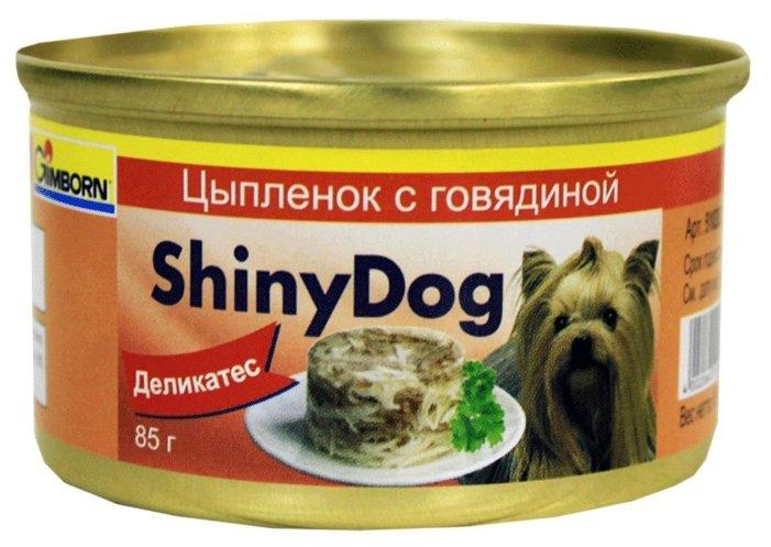 Gimborn Shiny Dog влажный корм для взрослых собак, цыпленок с говядиной 85 гр