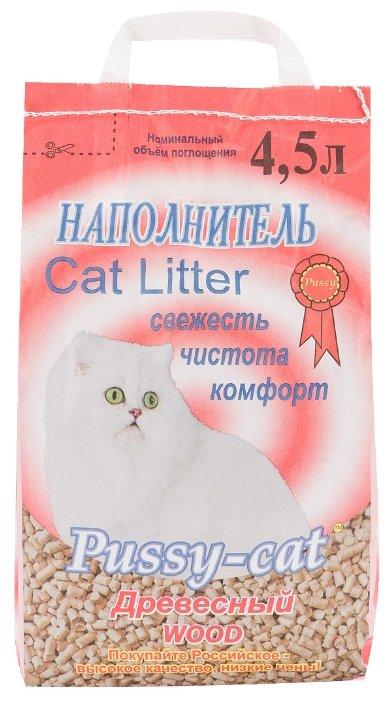 Pussy-Cat Древесный наполнитель 4,5л, 2,800 кг