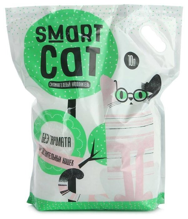Smart Cat наполнитель Силикагелевый наполнитель для чувствительных кошек (без аромата), 10л, 4,370 кг, 24572