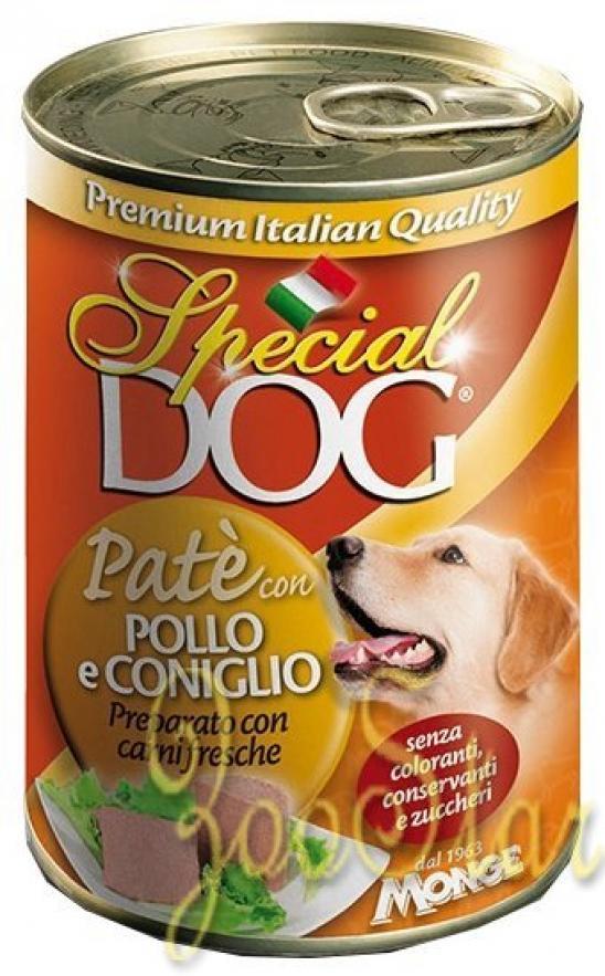 Special Dog консервы для собак паштет курица с кроликом 400г
