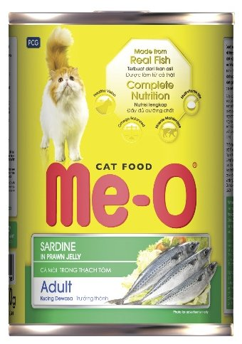 Ме-О влажный корм для взрослых кошек всех пород, сардины 400 гр