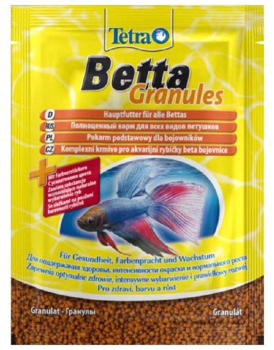 Tetra (корма) Корм для бойцовых рыб и других видов лабиринтовых, гранулы Betta Granules 193680, 0,005 кг