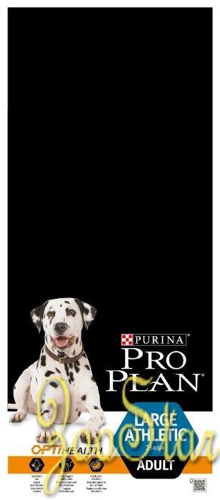Pro Plan корм для крупных и взрослых собак мощного телосложения, курица 14 кг