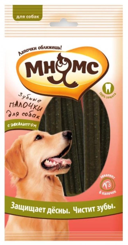 Мнямс лакомство для взрослых собак всех пород, зубные палочки с эвкалиптом 120 гр