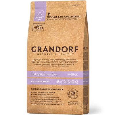 Grandorf turkey & Rice Adult Mini Breeds сухой корм для собак мелких пород, индейка с рисом - 3 кг