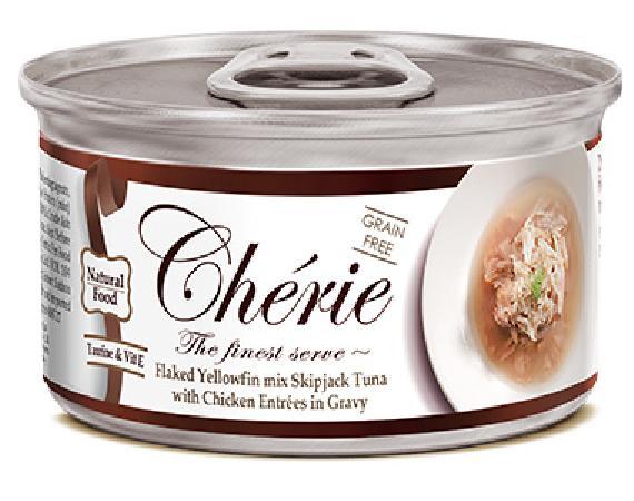 Pettric Консервы для кошек, тунец с курицей в подливе 7487, 0,080 кг