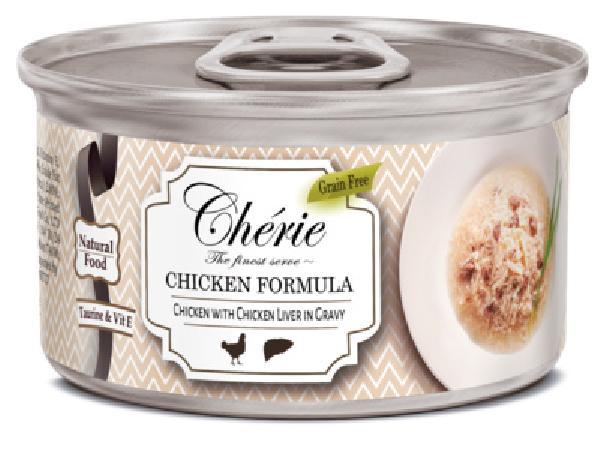 Pettric Консервы для кошек , рубленная курица с куриной печенью в подливе 12019, 0,080 кг, 54638, 54638