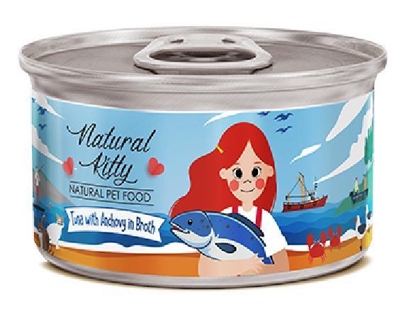 Pettric Консервы для кошек , тунец с анчоусами в бульоне 12449, 0,080 кг, 54642, 54642