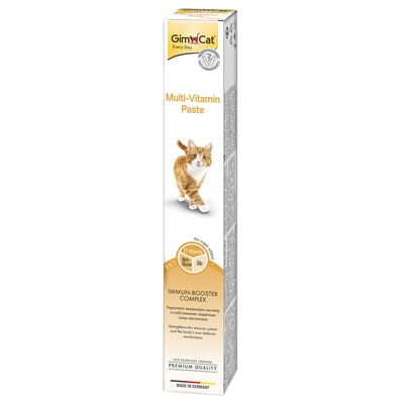Gimcat Multi-Vitamin паста для кошек, для поддержания здоровья 200 гр