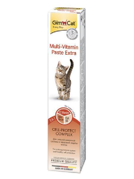 Gimcat Multi-Vitamin Extra паста для кошек с антиоксидантами, для поддержания здоровья 200 гр