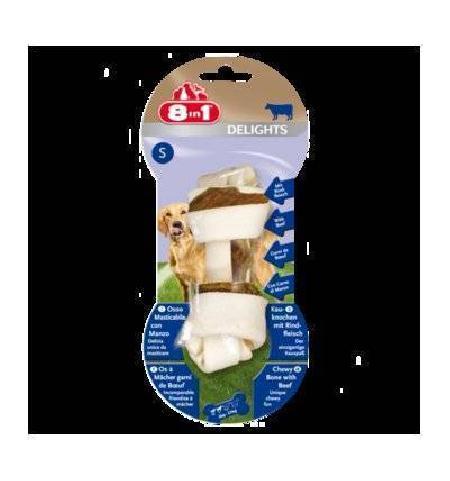 8 в 1 (deshedder и лакомства) Косточка для мелких и средних собак с говядиной, 11 см, S 108764, 0,060 кг