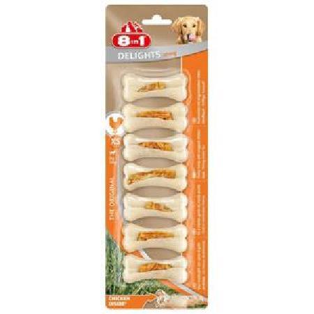 8 in 1 лакомство для взрослых собак для малых пород, сверхпрочная косточка с курицей 140 гр