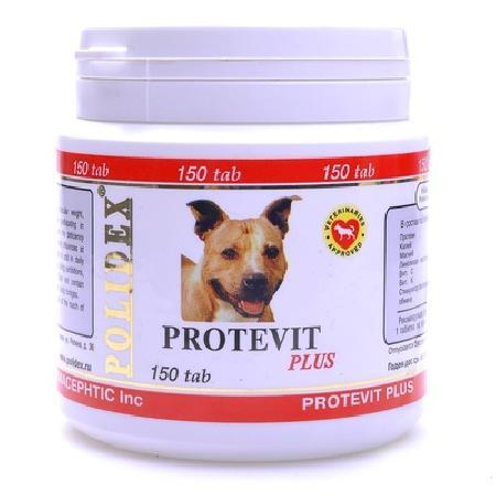 Polidex Protevit витаминный комплекс для роста мышечной массы животного 150 таб