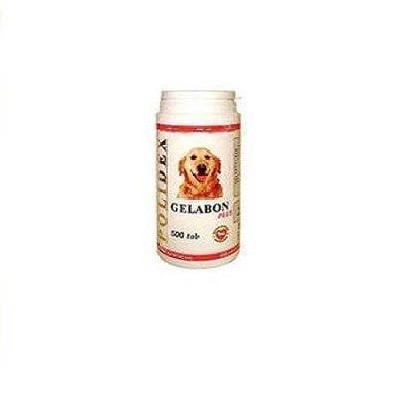 Polidex Gelabon витаминный комплекс для собак, профилактика и лечение заболеваний суставов 500 таблеток