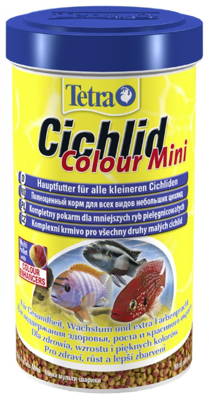 TetraCichlid Colour Mini корм для всех видов цихлид для улучшения окраса 500 мл