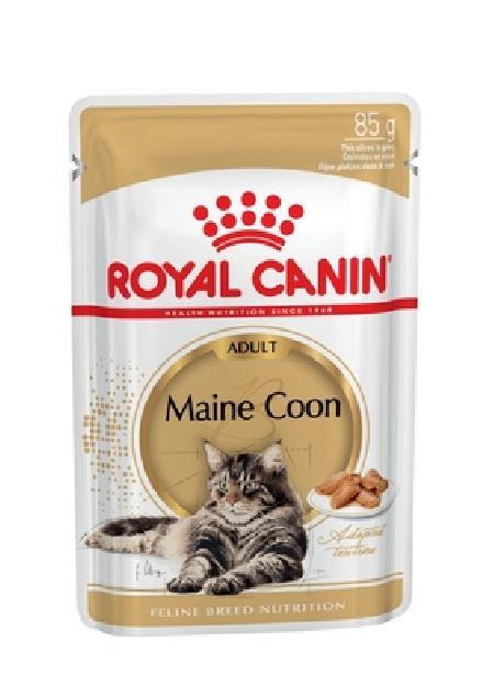 Роял Канин 01202 Adult Maine Coon пауч дкошек породы Мэйн Кун кусочки в соусе 85г