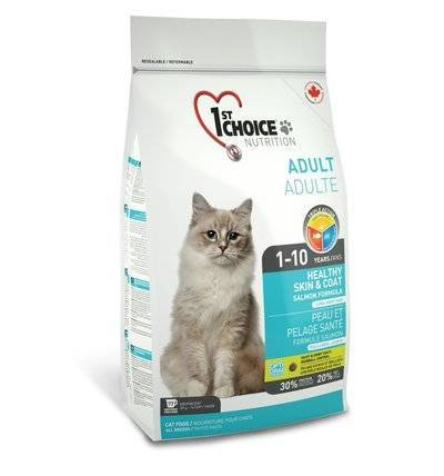 1st Choice Сухой корм для кошек, лосось Skin&Coat, 5,440 кг