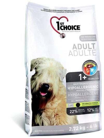 1st Choice Сухой корм для собак с картошкой и уткой Hypoallergenic, 6,000 кг