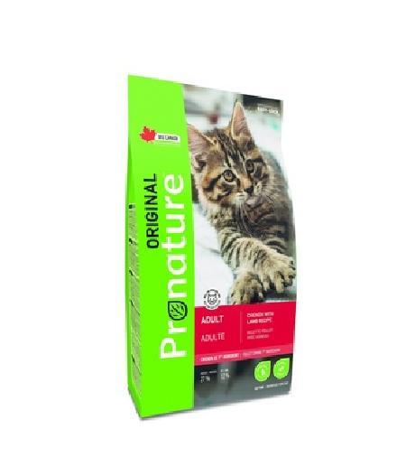 Pronature Для взрослых кошек,  курица и ягненок, 5,000 кг