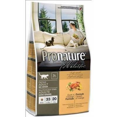 Pronature Holistic для взрослых Кошек Утка с апельсином 102.2021, 2,720 кг