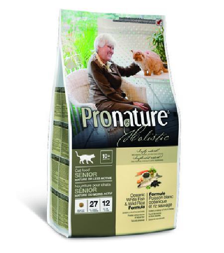 Pronature Holistic Лайт для взрослых Кошек Океаническая белая рыба с рисом, облегченный 102.2025, 2,720 кг